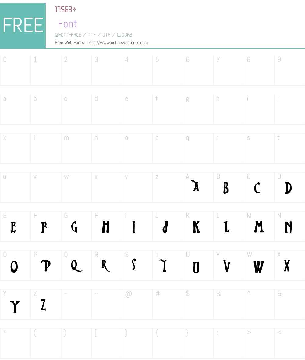 Zed Leppelin Font Screenshots