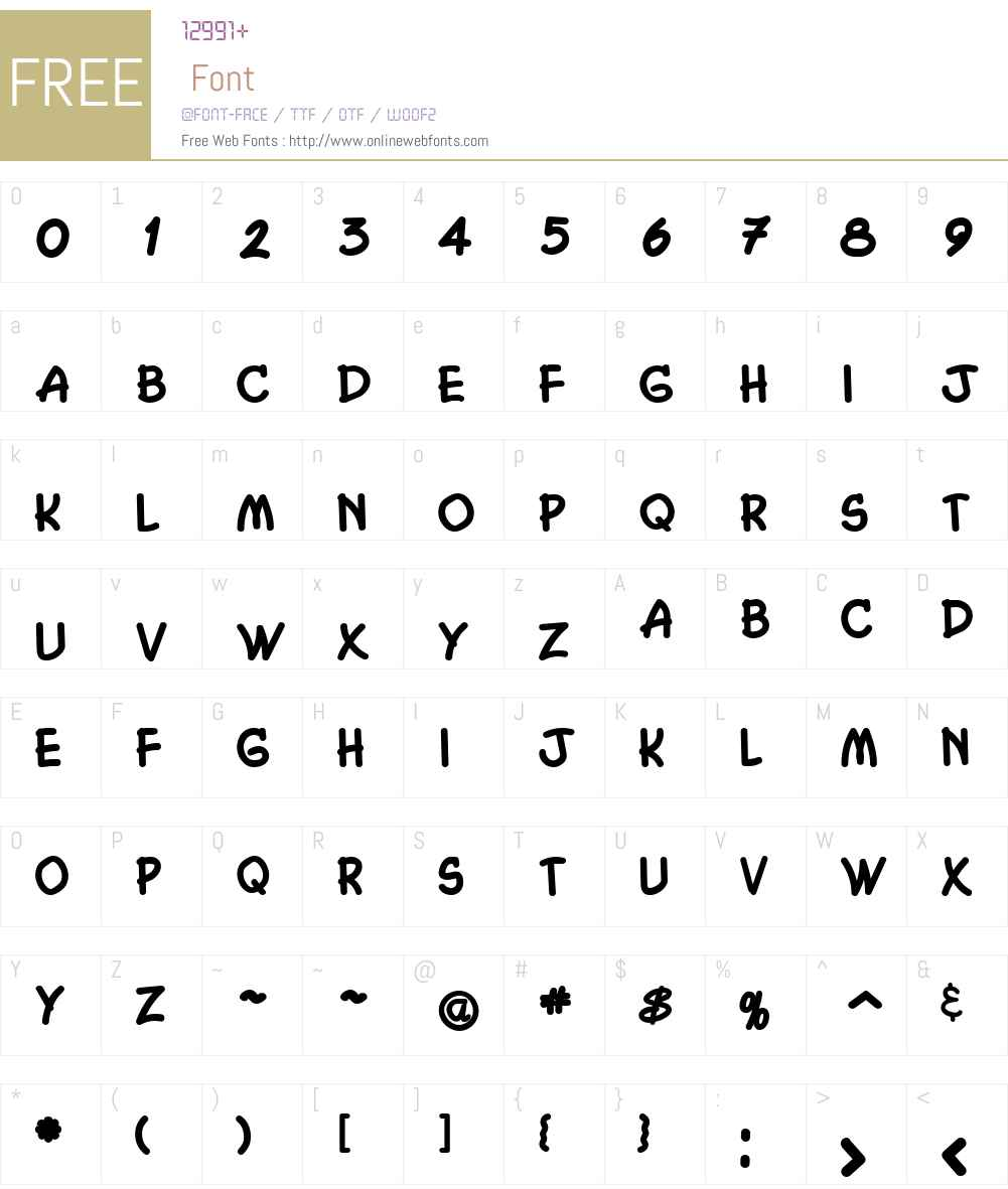 Chasm Font Screenshots