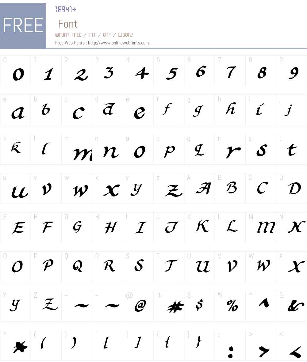 Calligrapher 2 Font Screenshots