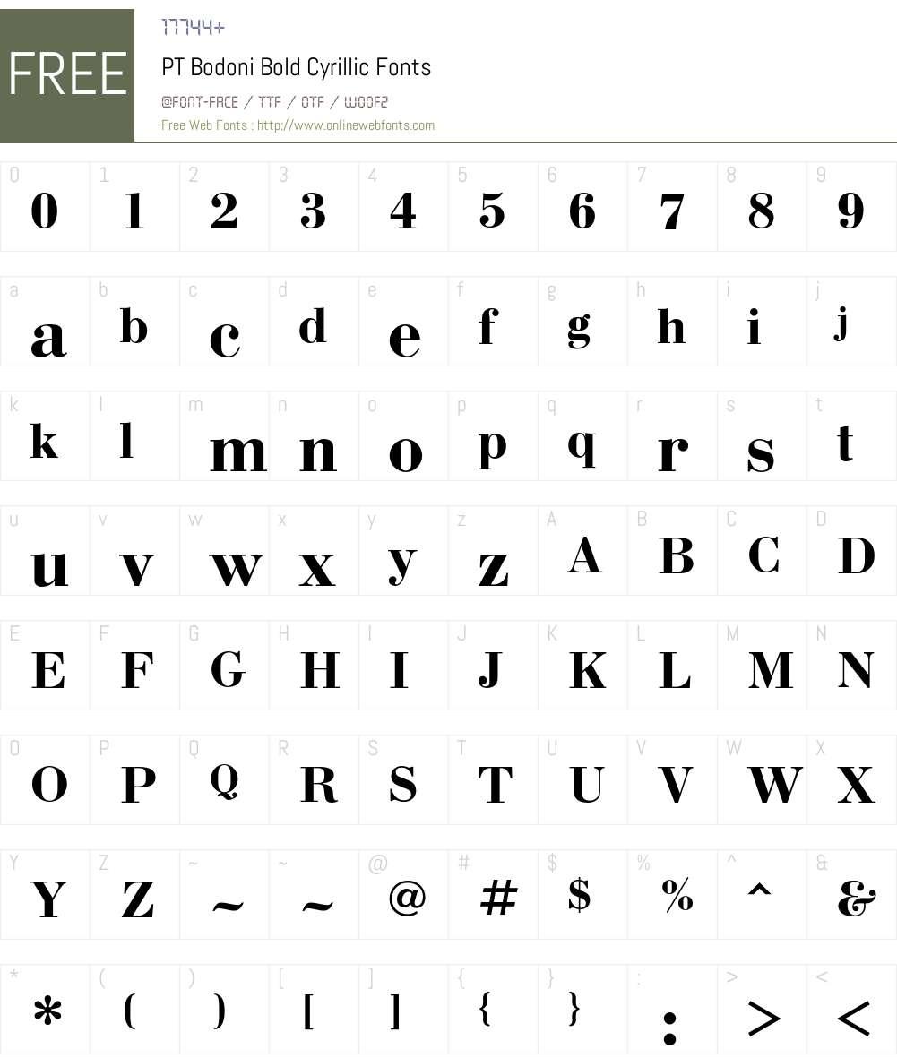 BodoniC Font Screenshots