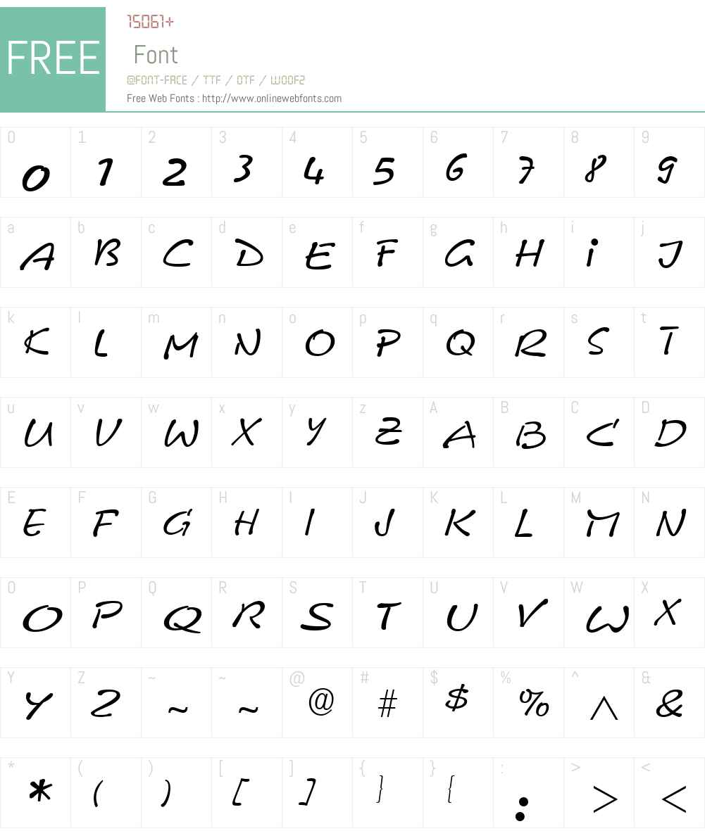 Pyxidium Quick Font Screenshots