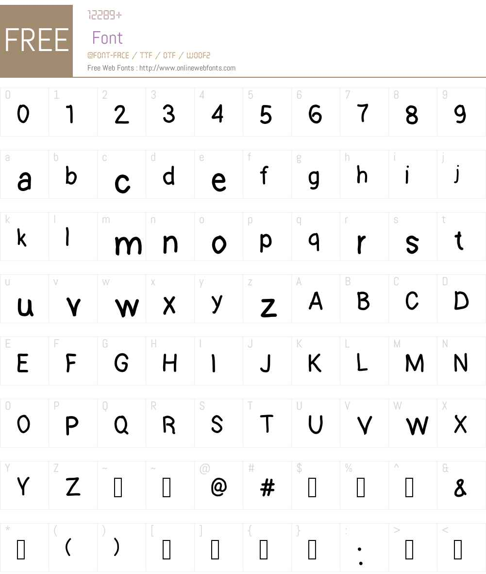 kontuto Font Screenshots