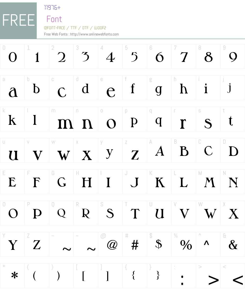 MusketeerW01-DemiBold Font Screenshots