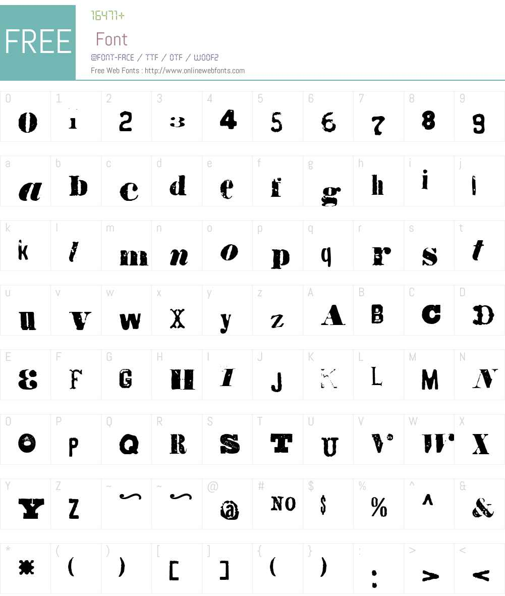 Octopus Font Screenshots