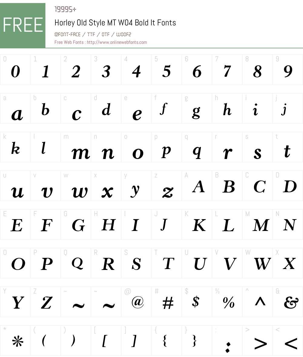 Horley Old Style Font Screenshots