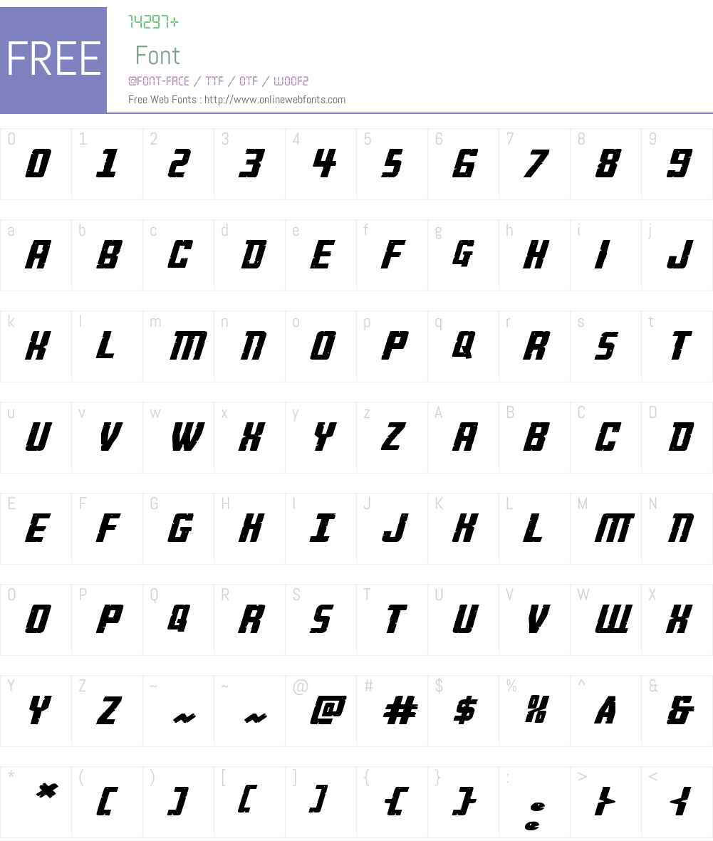 Rockledge Extra-Expanded Ital Font Screenshots