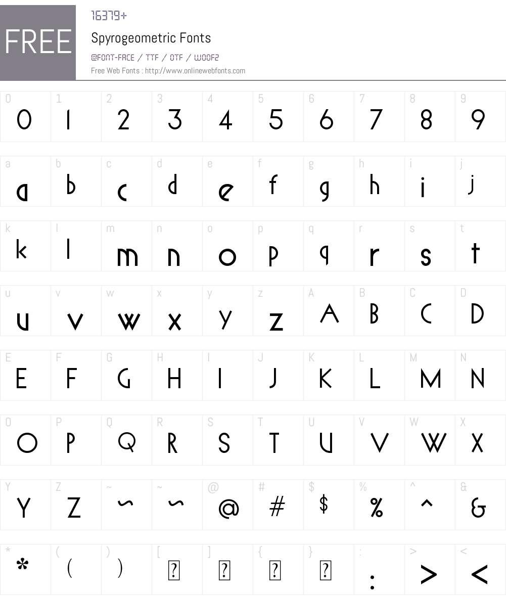 Spyrogeometric Font Screenshots