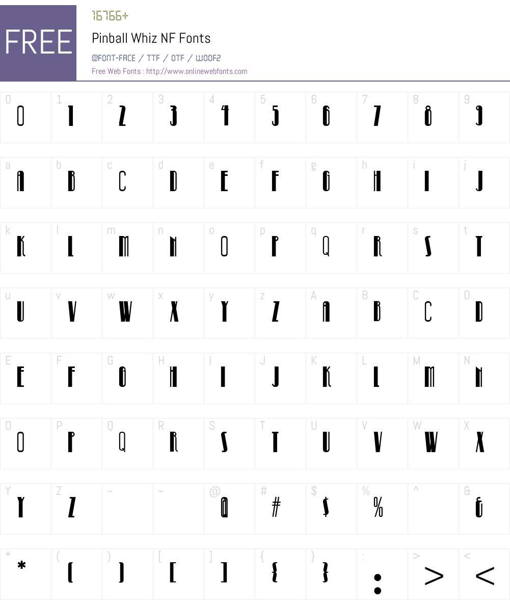 Pinball Whiz NF Font Screenshots