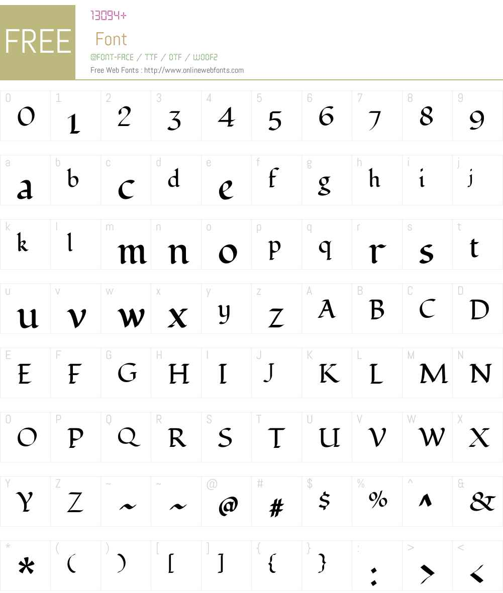 Fondamento Font Screenshots
