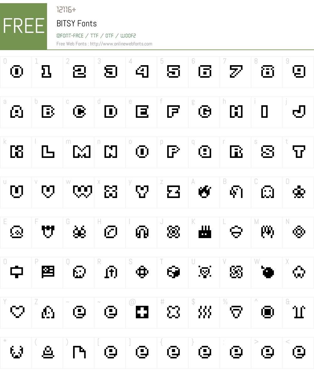 BITSY Font Screenshots
