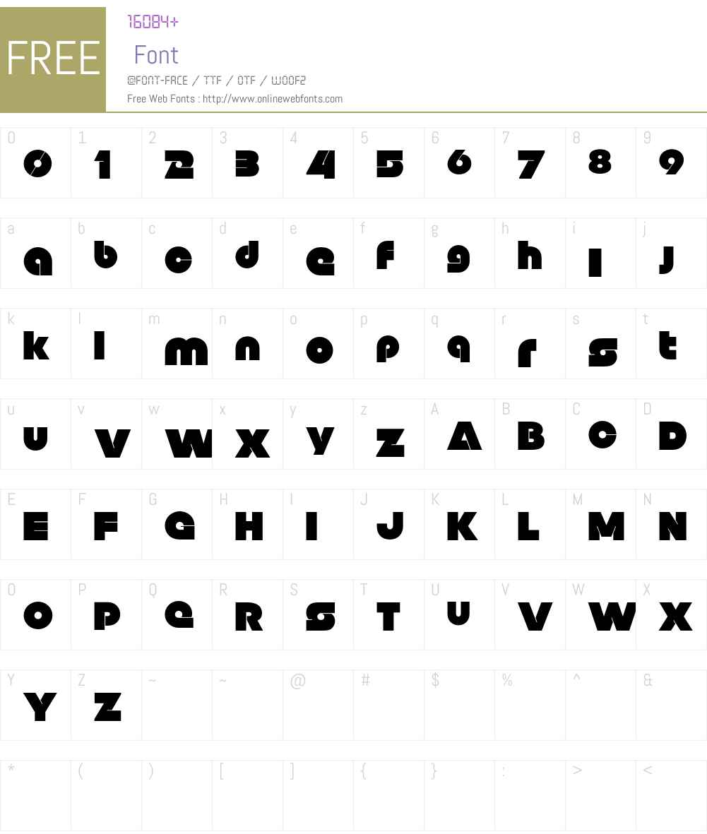 Null Free Font Screenshots