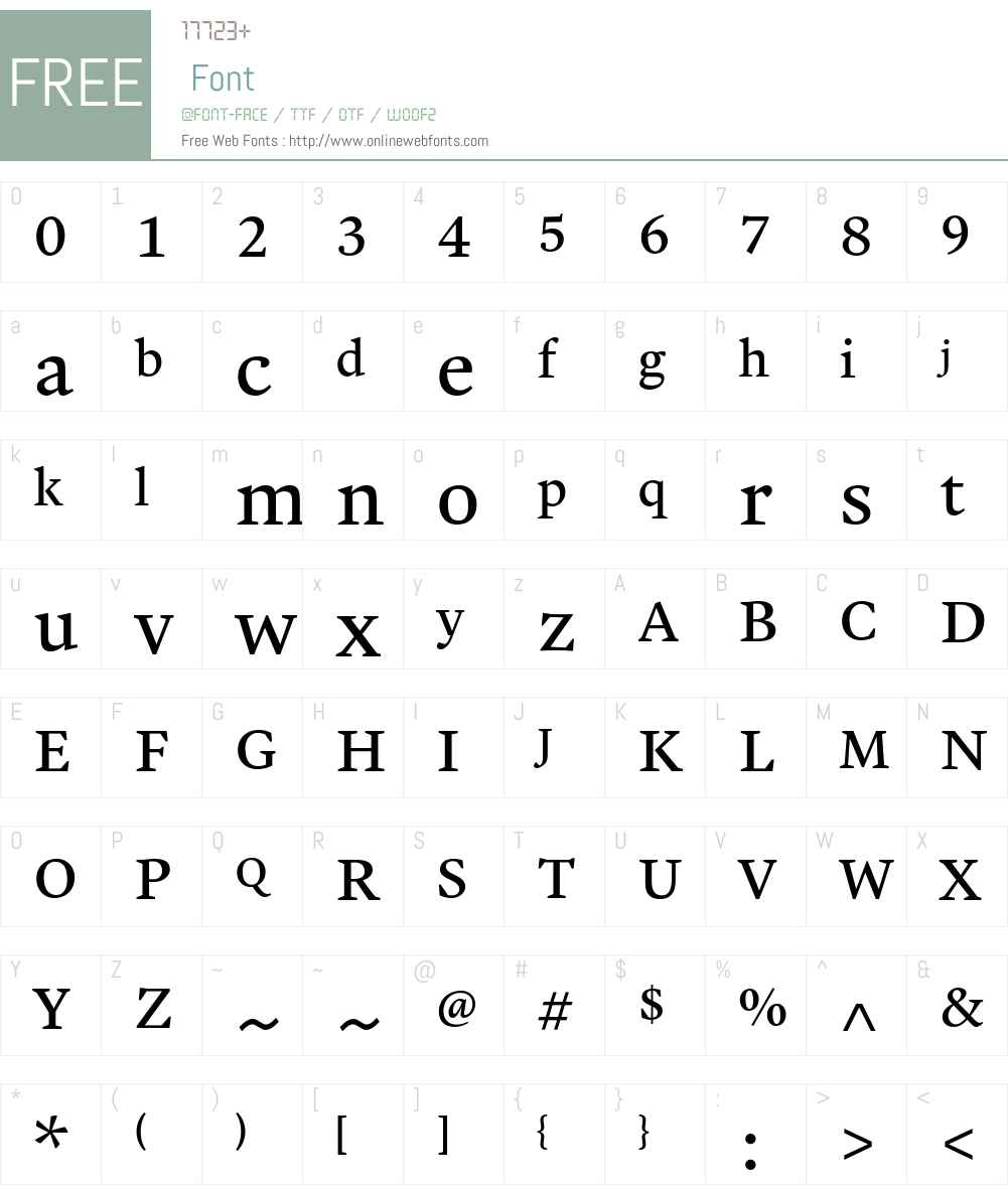Malabar eText Font Screenshots