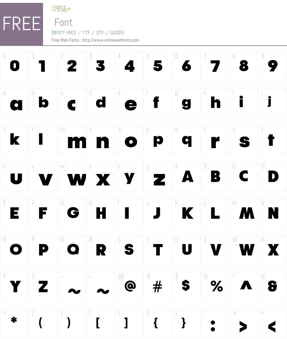 KlefW01-Ultra Font Screenshots