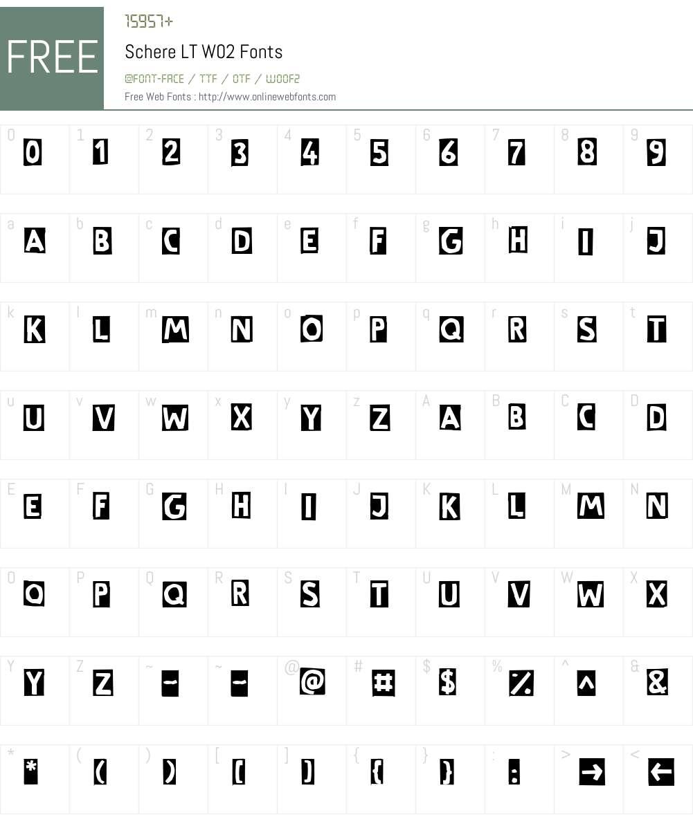 Linotype Cutter Font Screenshots