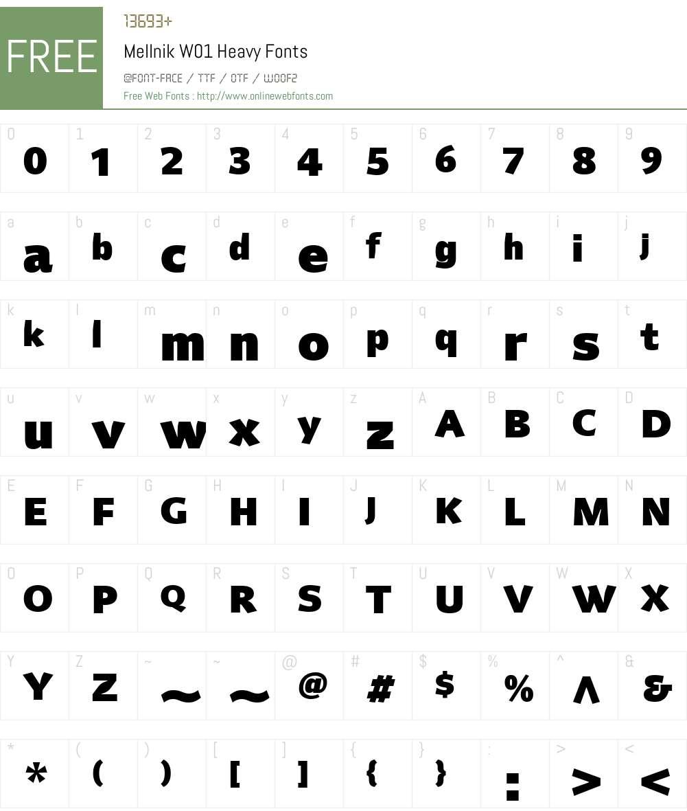 MellnikW01-Heavy Font Screenshots