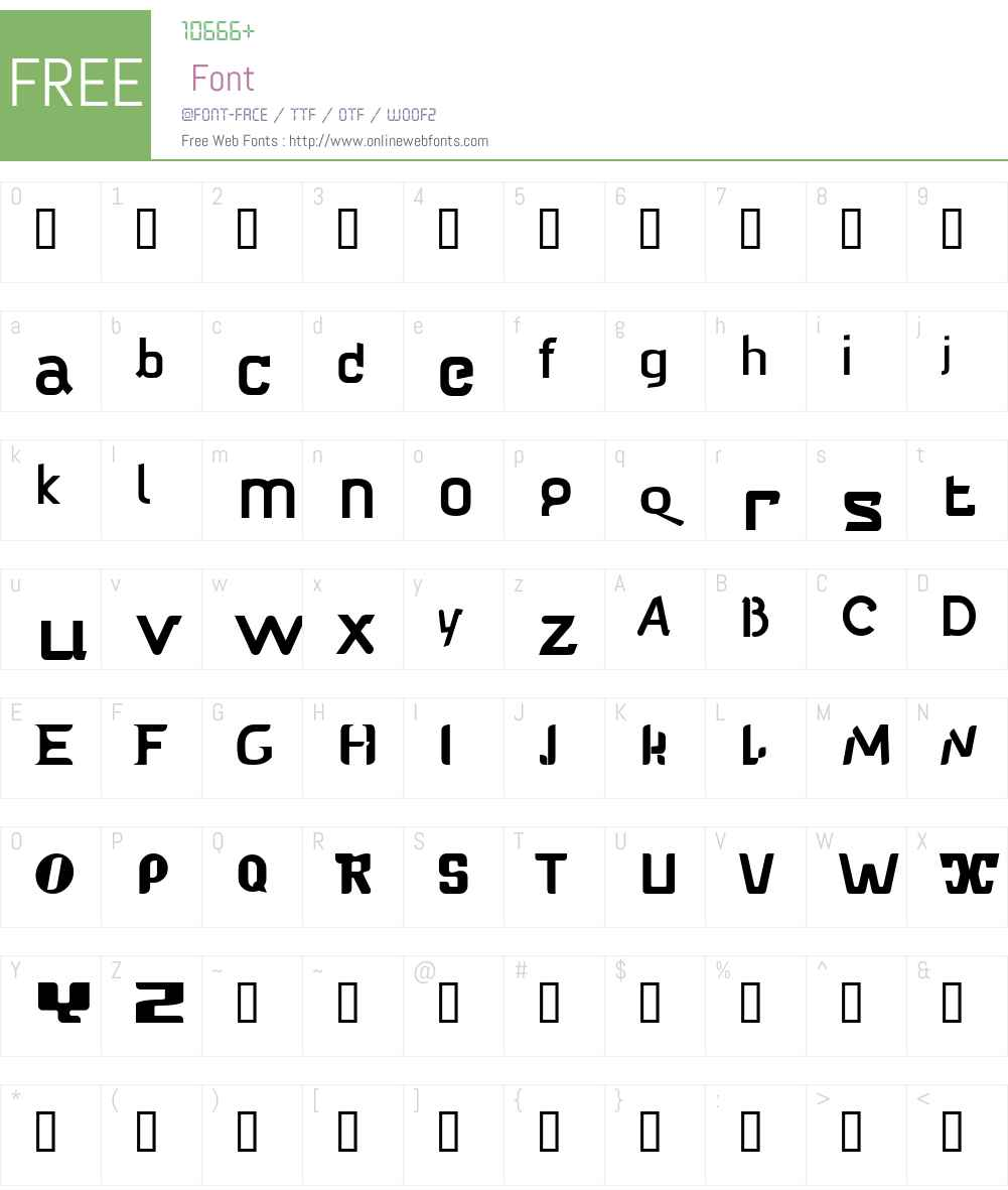 Babelfish Font Screenshots
