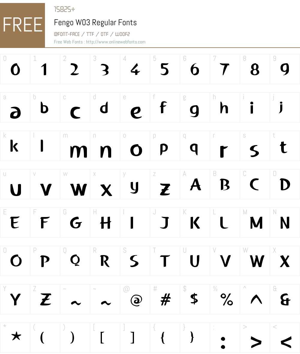 Fengo Font Screenshots