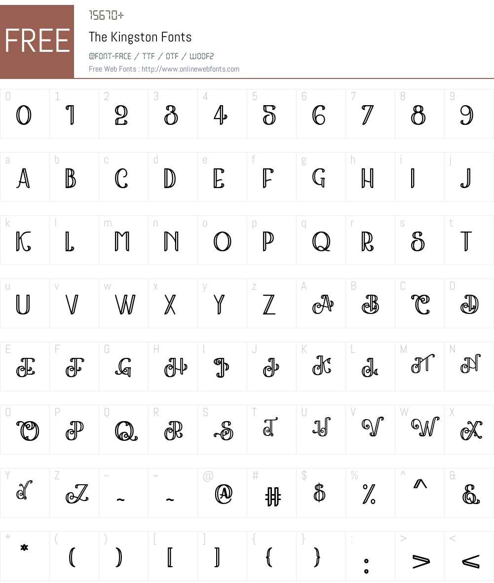 The Kingston Font Screenshots