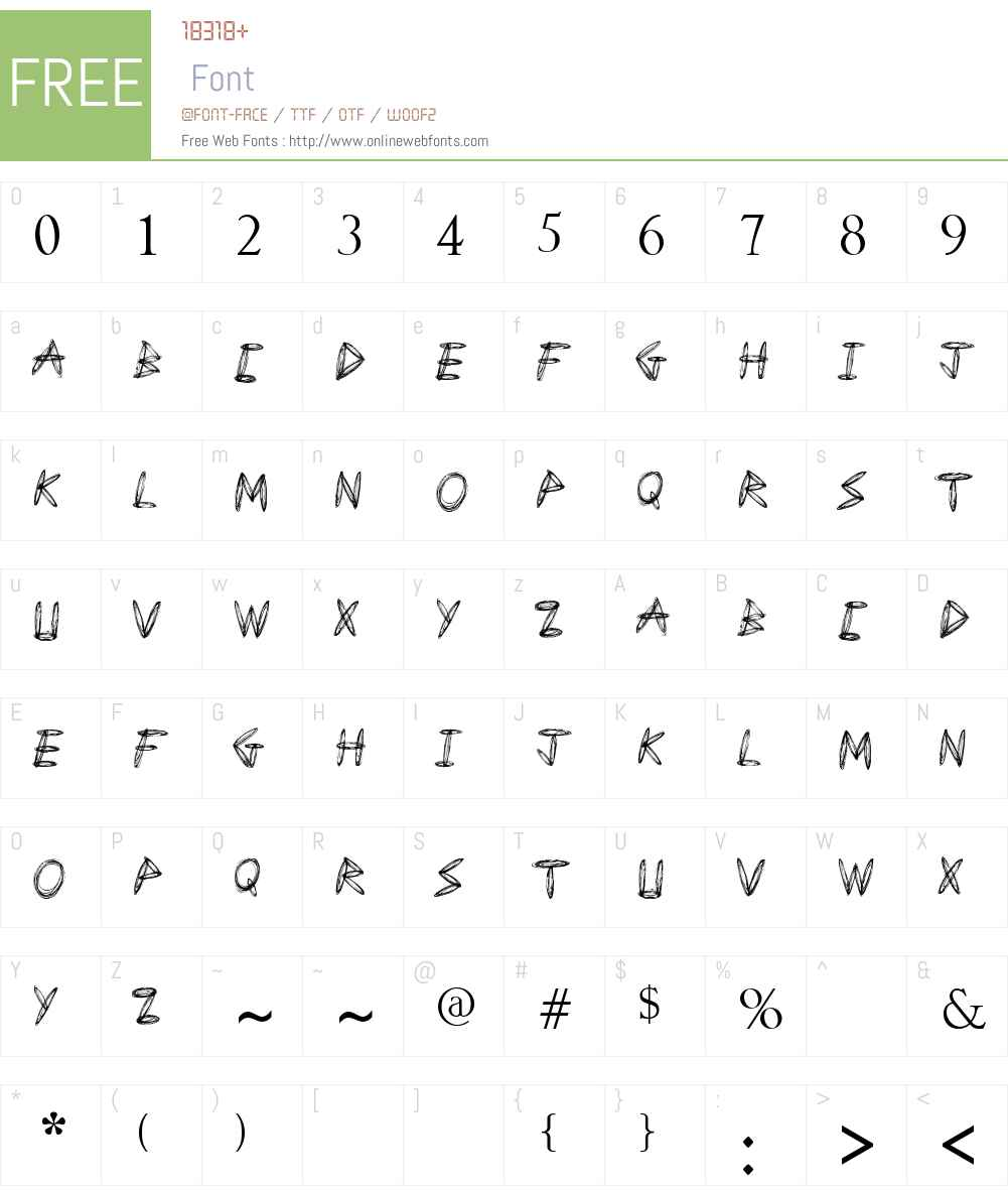 Draw Freehand Font Screenshots