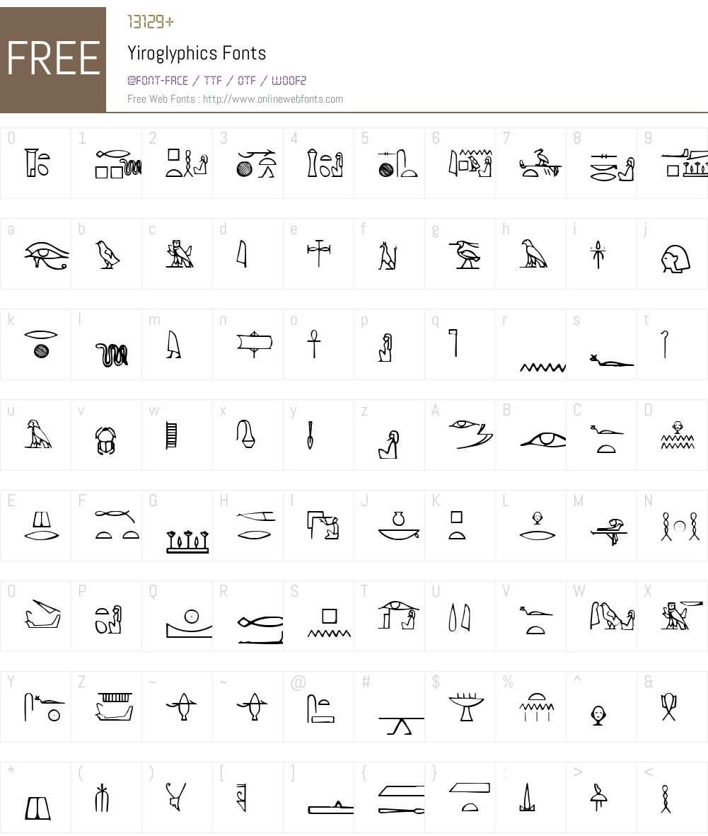 Yiroglyphics Font Screenshots