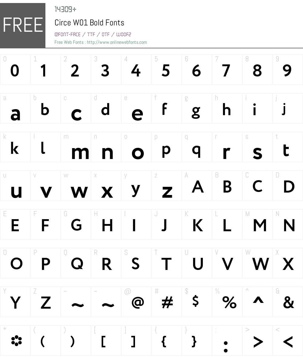 CirceW01-Bold Font Screenshots