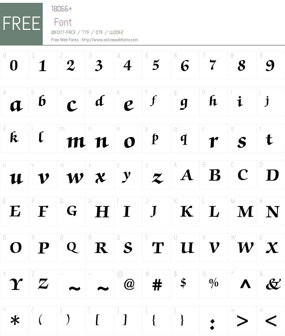 Zapf Chancery BQ Font Screenshots