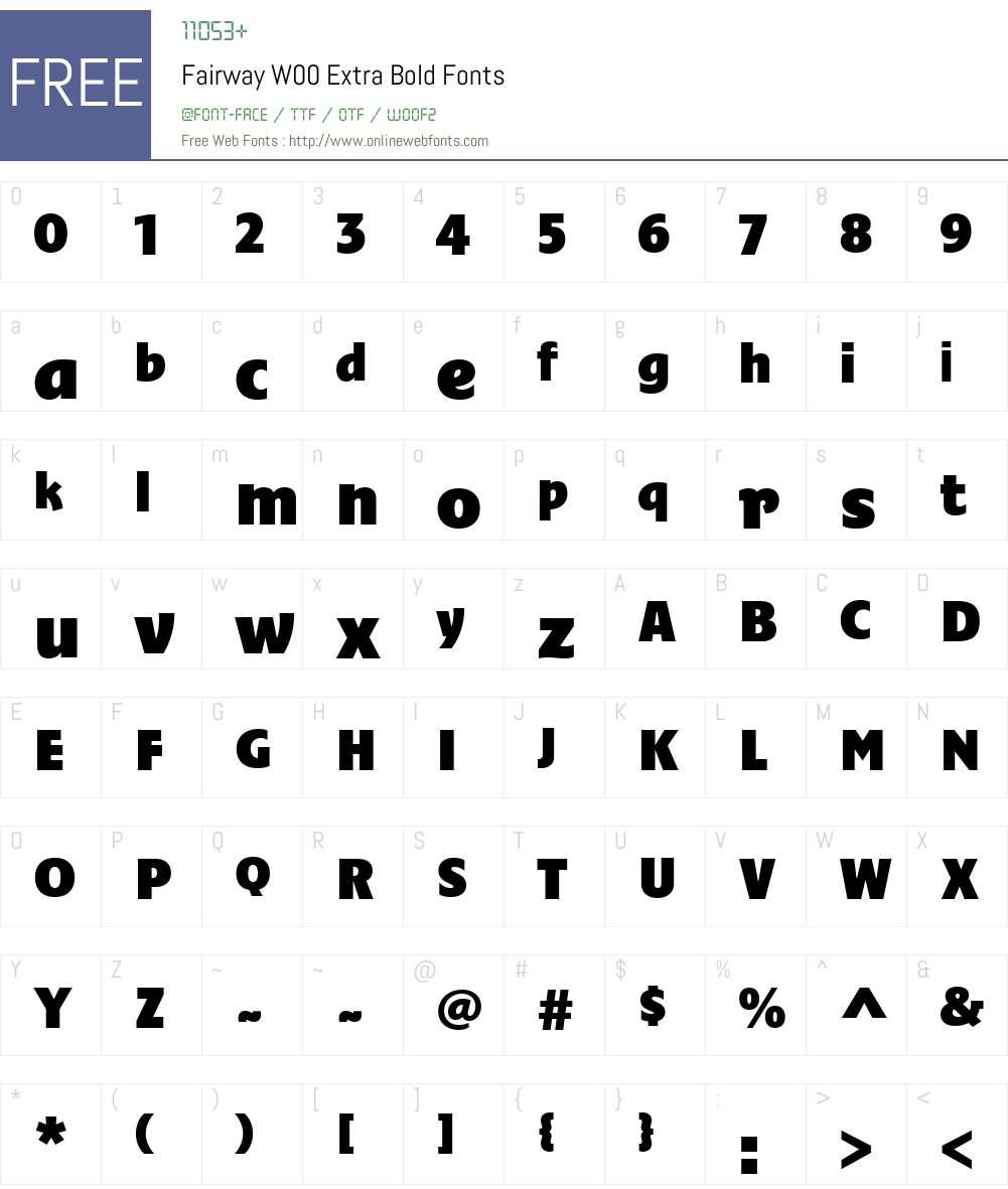 FairwayW00-ExtraBold Font Screenshots