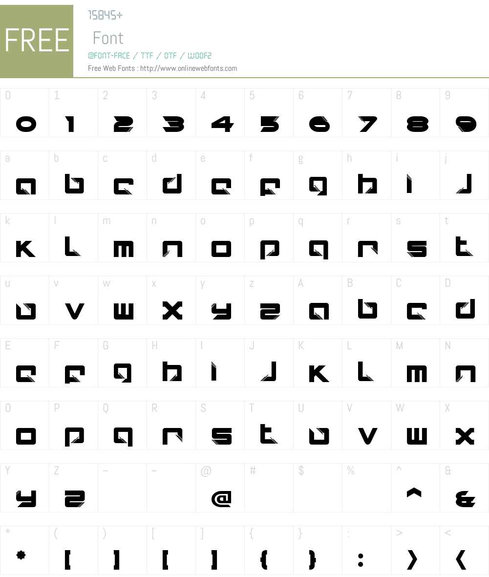 AIKOW00-Display Font Screenshots