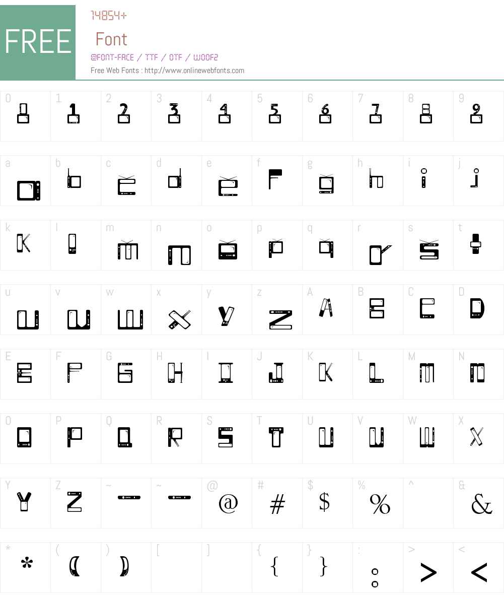 TELESILLAS Font Screenshots