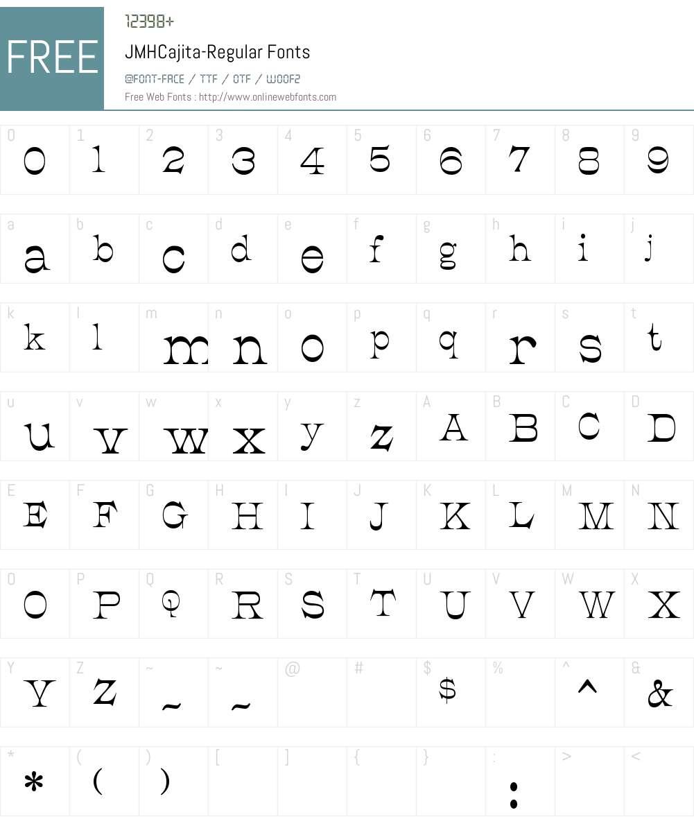 JMH Cajita Font Screenshots