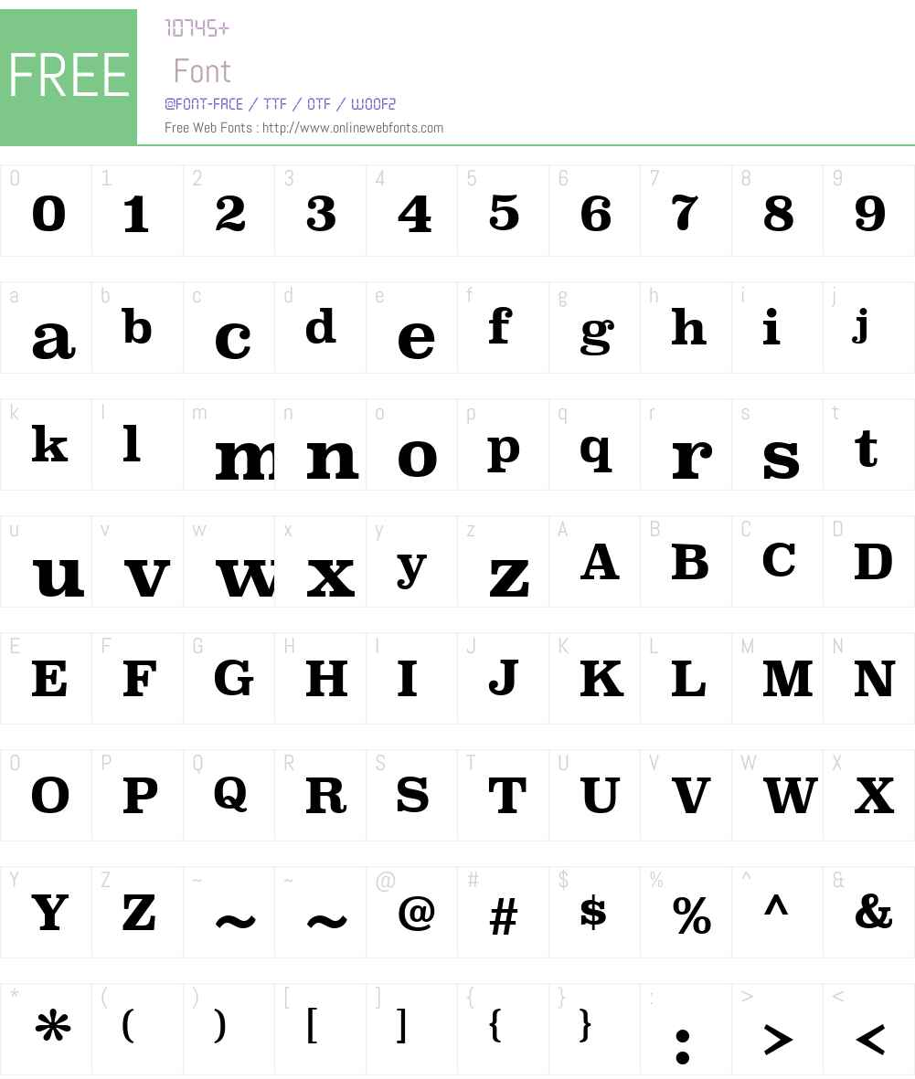 SuperclarendonW00-Bold Font Screenshots