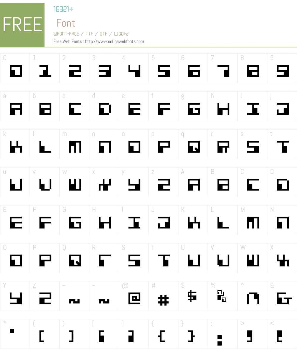 Phaser Bank Font Screenshots
