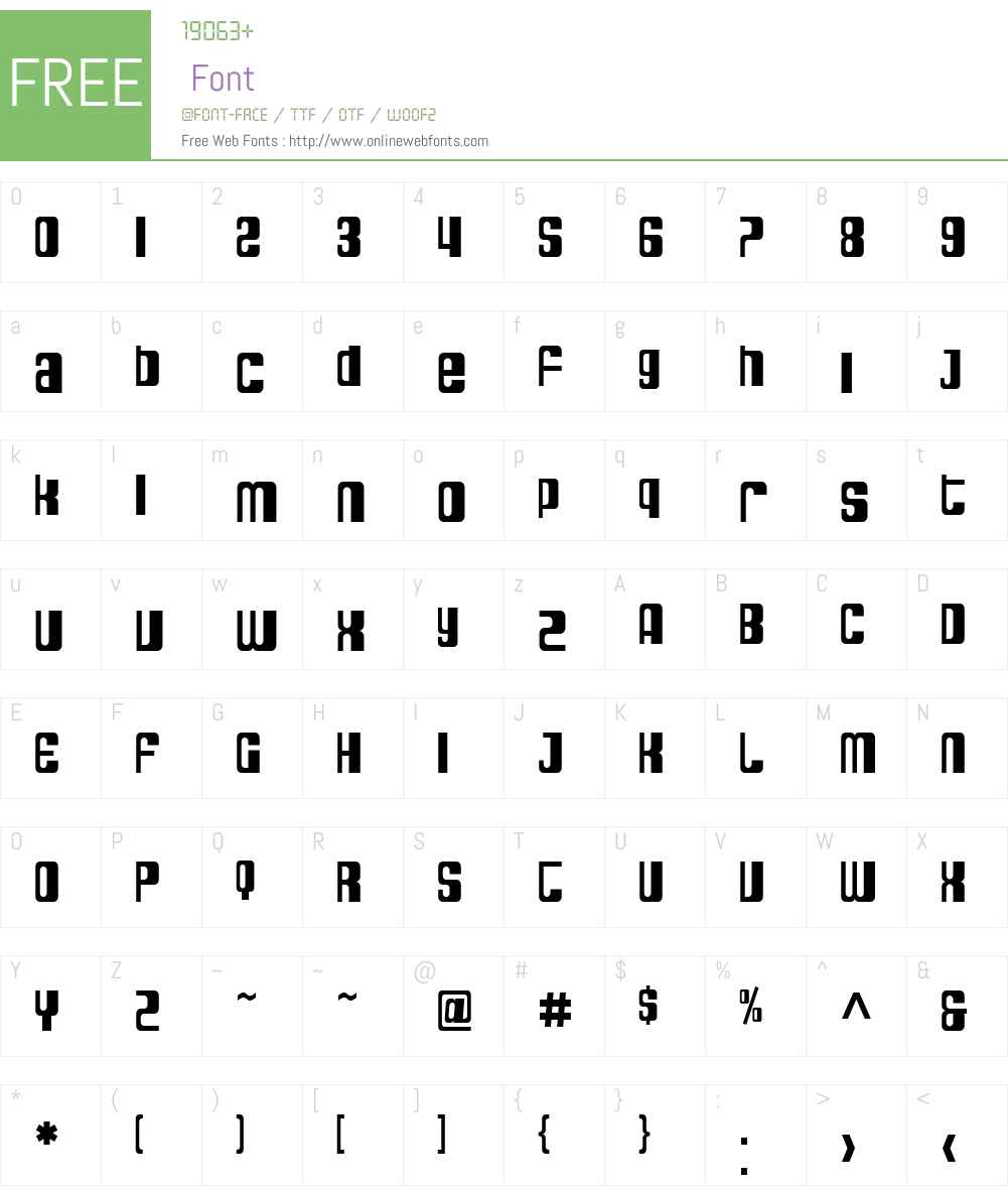 SF DecoTechno Condensed Font Screenshots