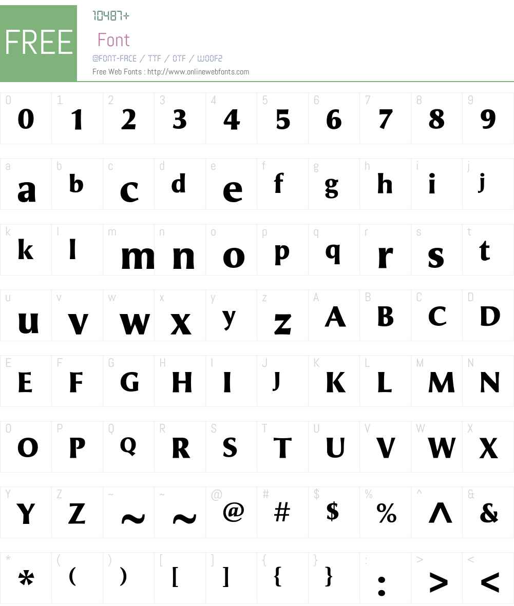 AlineaInciseW01-Bold Font Screenshots