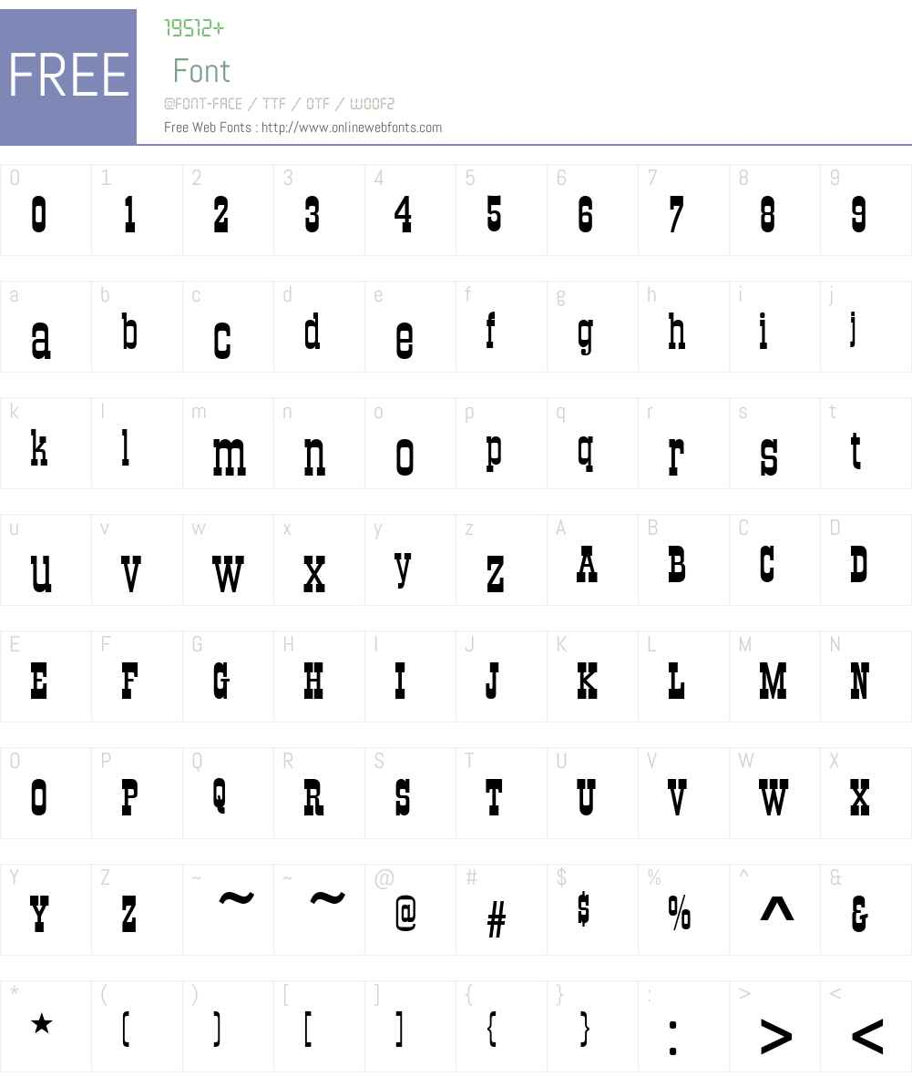 OldTowneNo536D Font Screenshots