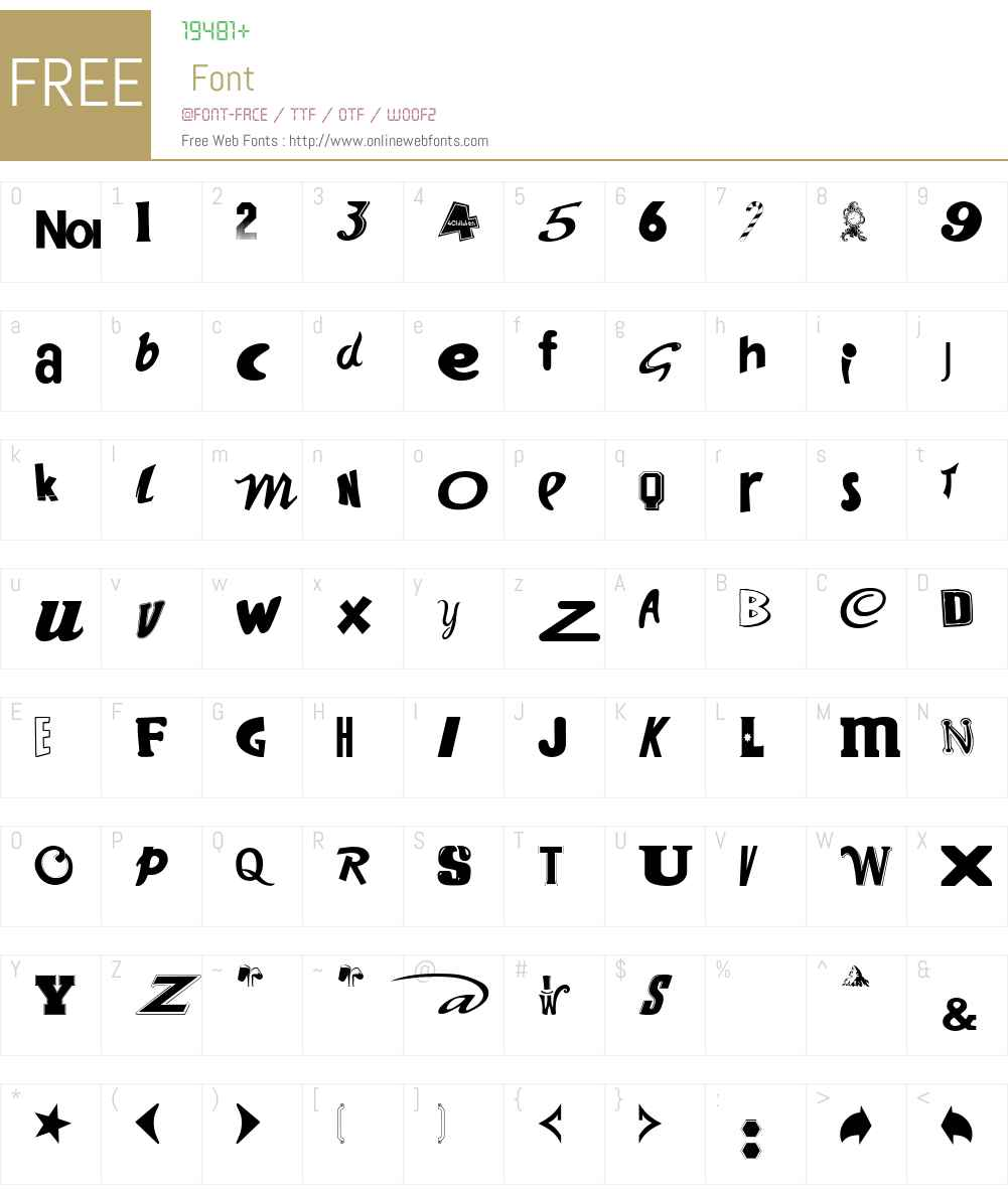 Kiddiefonts Font Screenshots