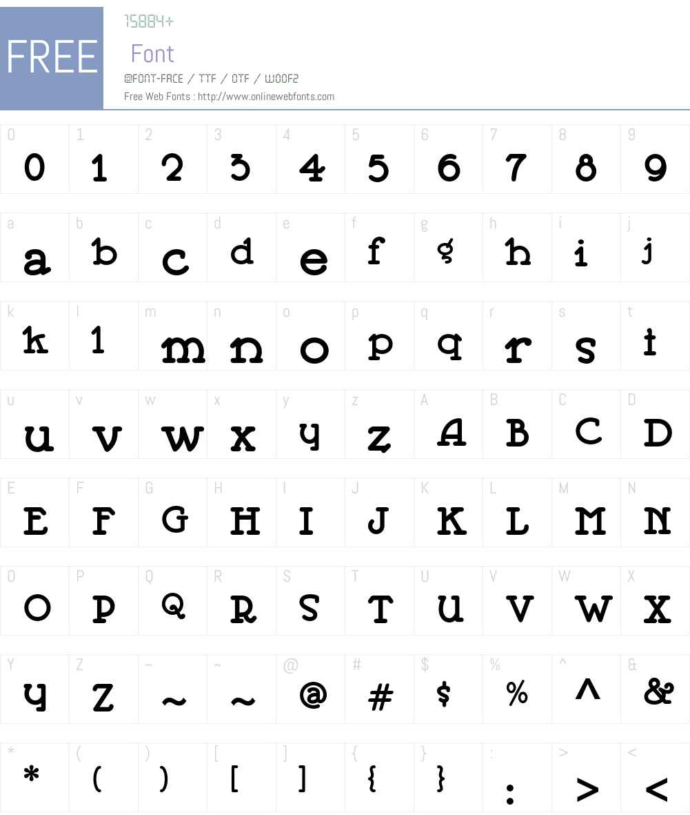 Jeepers ITC Std Font Screenshots