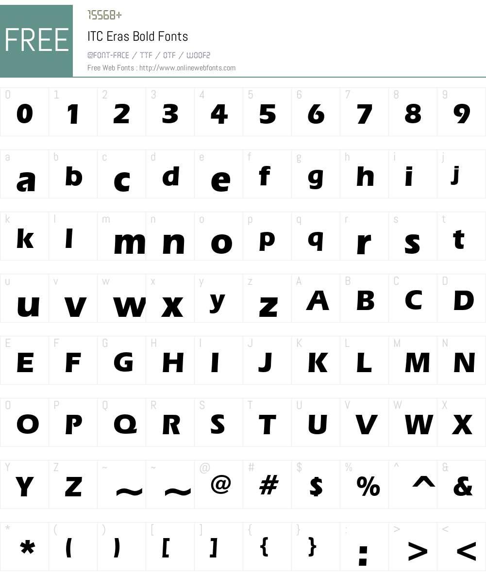 ITC Eras Font Screenshots