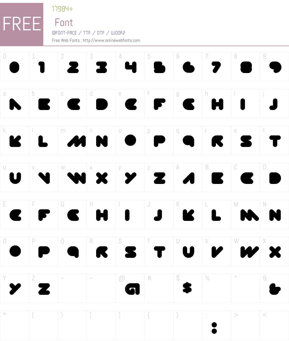DISKOPIA Font Screenshots