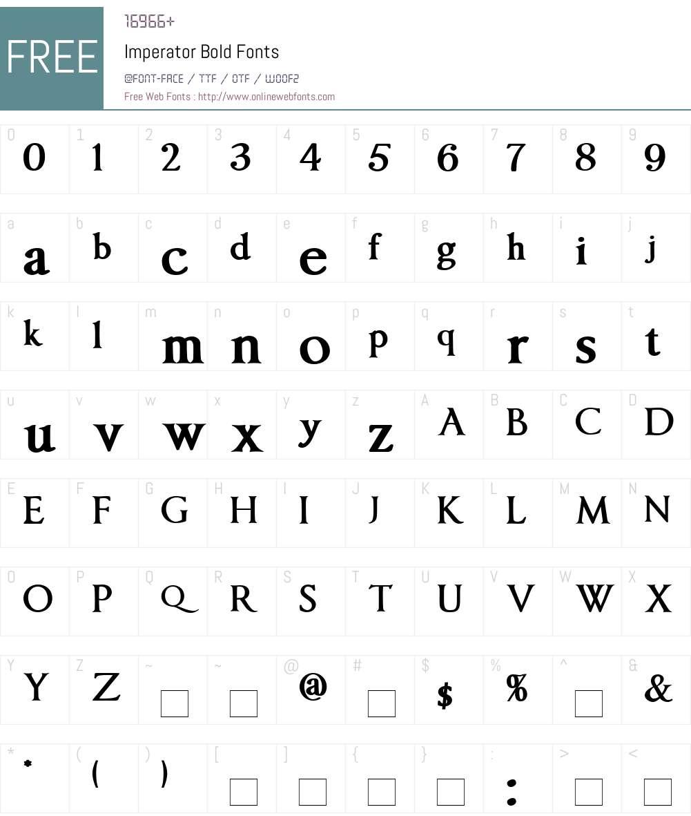 Imperator Font Screenshots