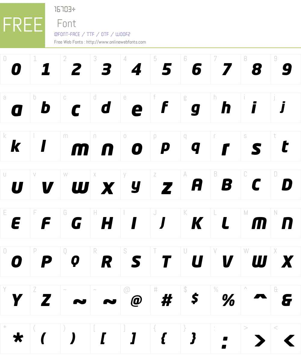 Neo Tech Std Font Screenshots