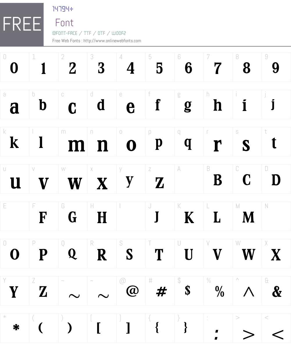 StirlingBold Font Screenshots