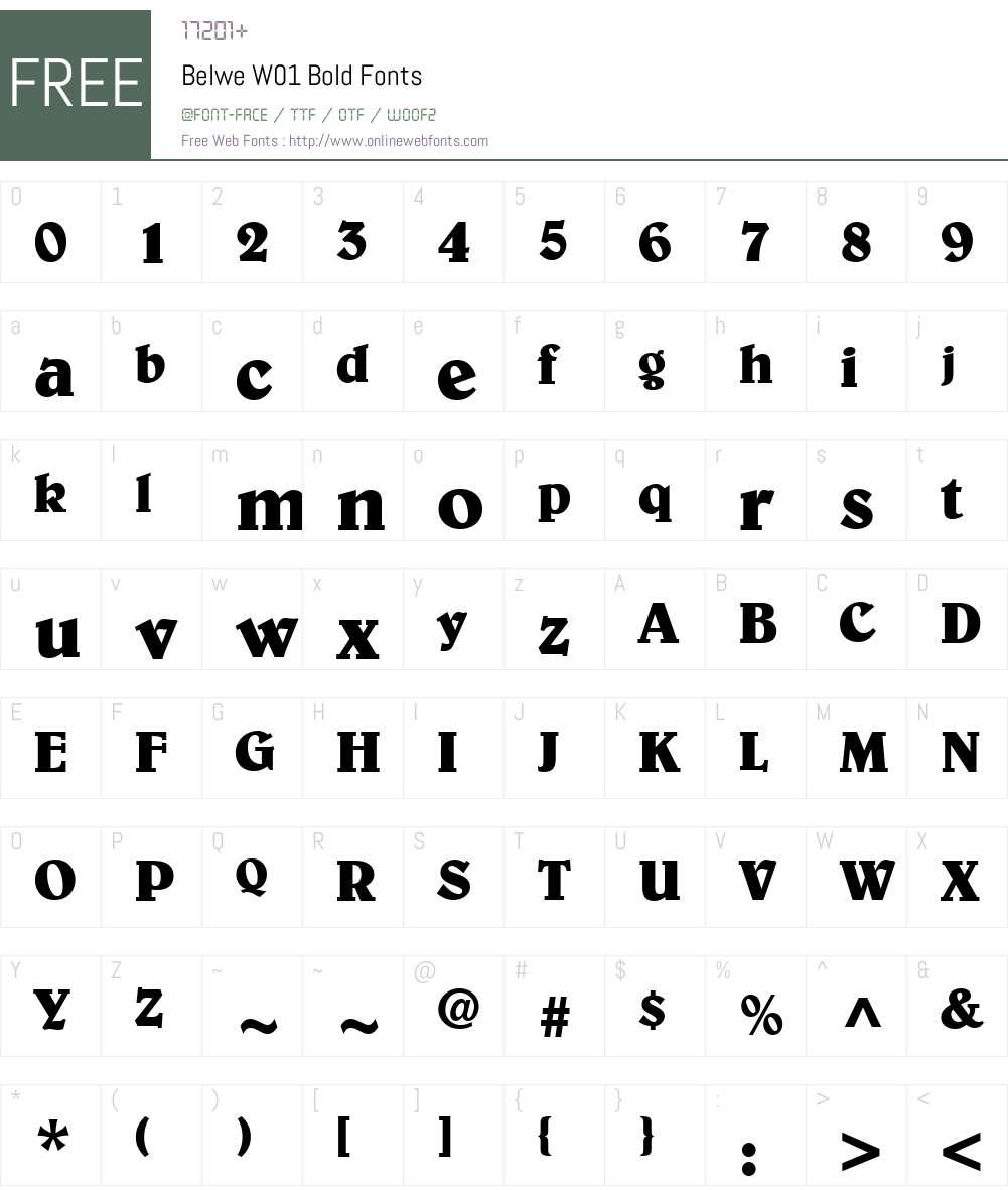 BelweW01-Bold Font Screenshots