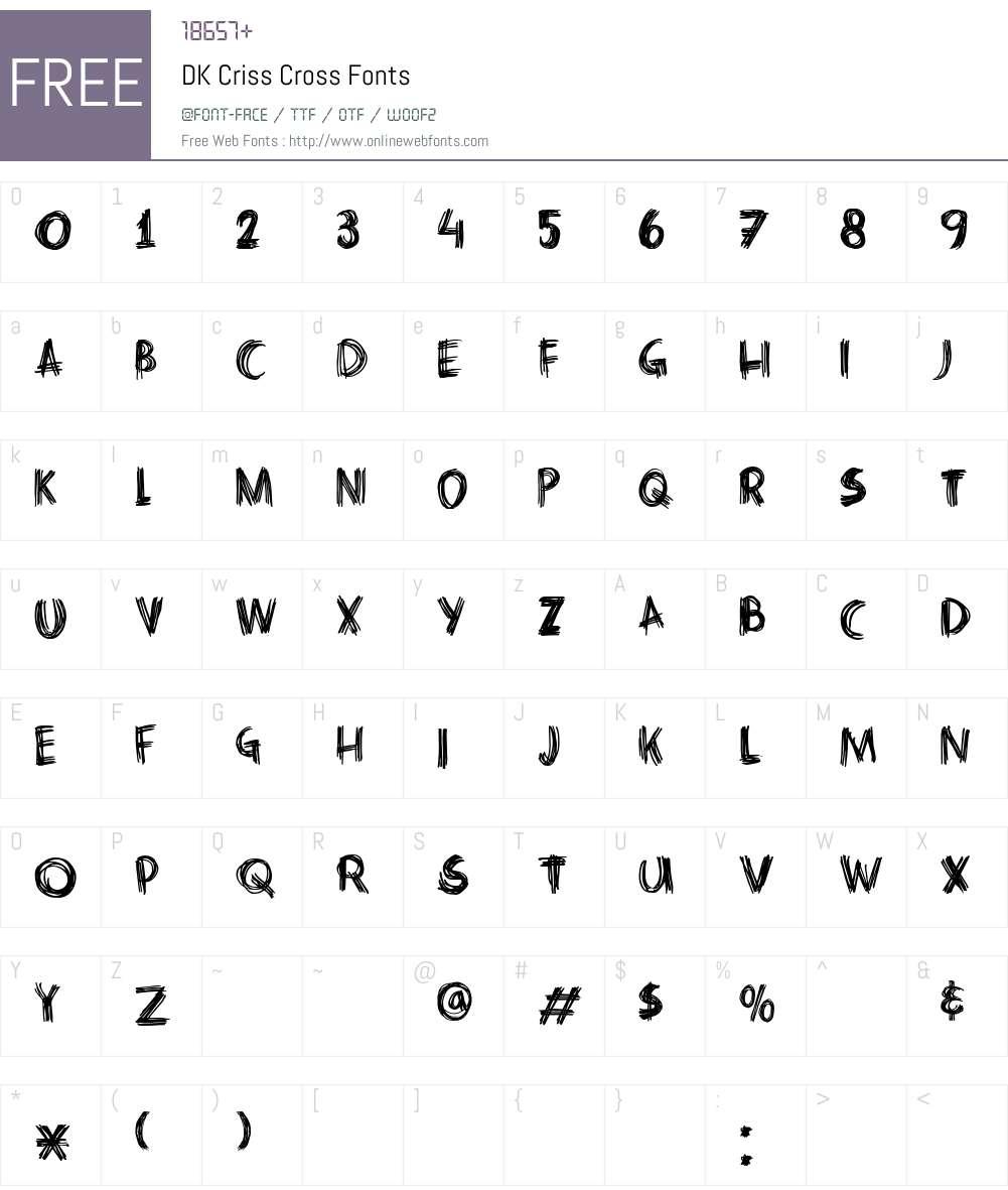 DK Criss Cross Font Screenshots