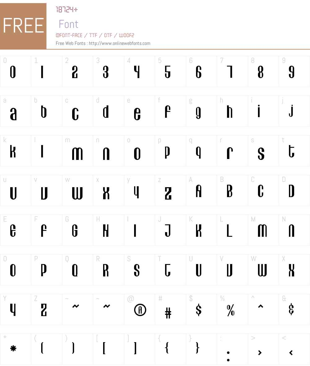 Lithia Font Screenshots
