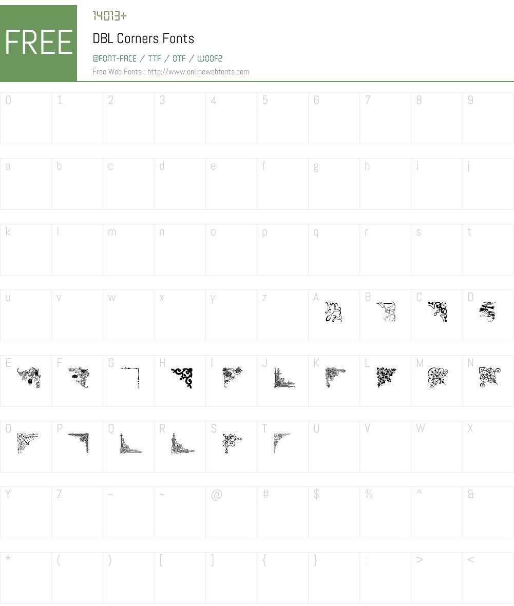DBL Corners Font Screenshots