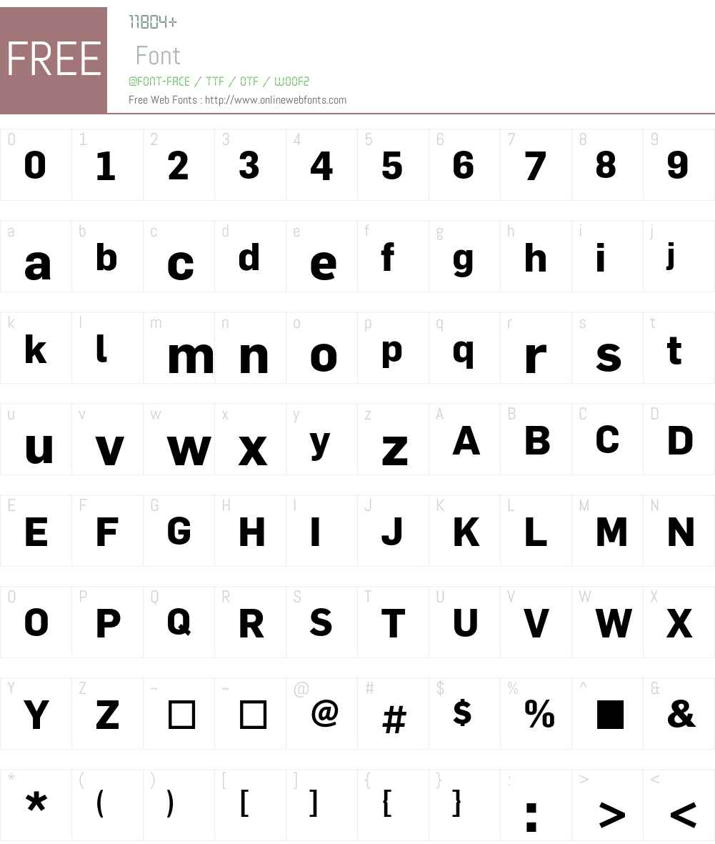 Flama Font Screenshots