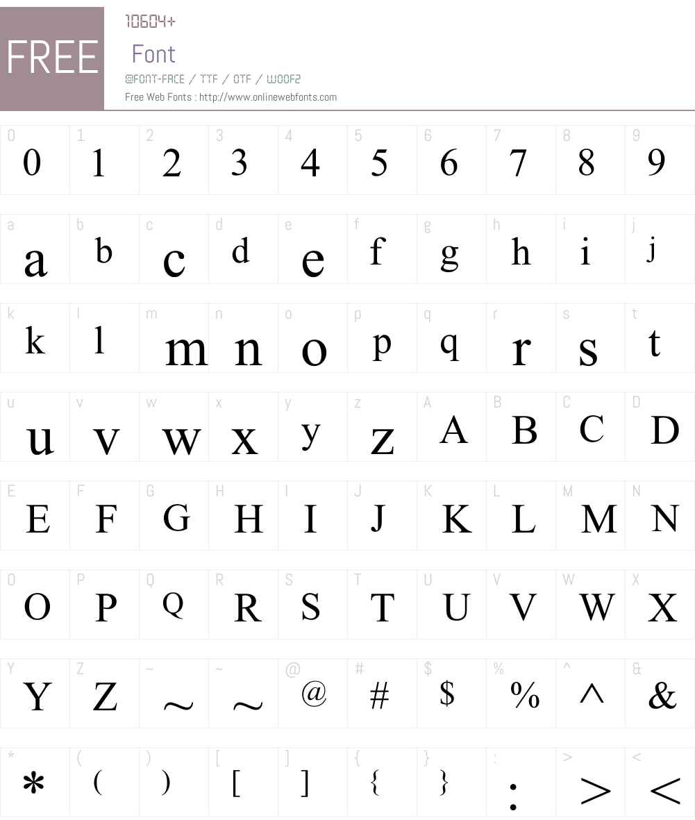 Abc (Glx) Talik Font Screenshots