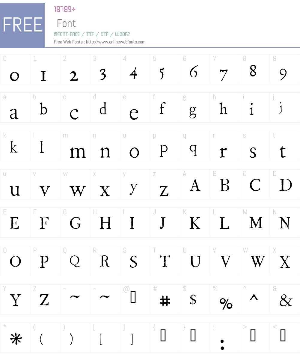 1786 GLC Fournier Font Screenshots