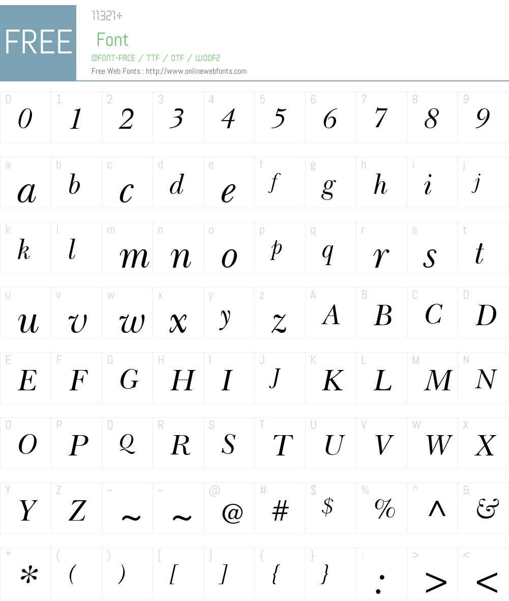 BaskervilleLTW01-Inclined Font Screenshots